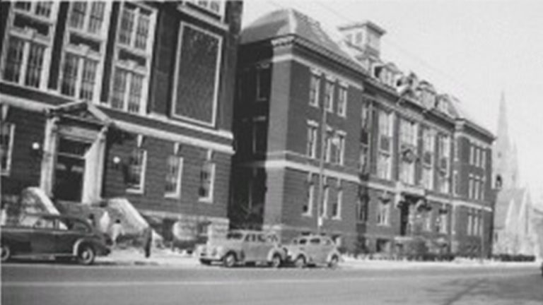 Wilmington High School as it appeared in the 1940s. (photo courtesy Delaware Public Archives)