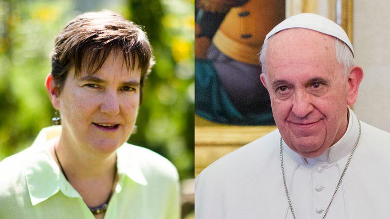 Margie Winters and Pope Francis (Matt Rourke and Pablo Martinez Monsivais/AP Photos)
