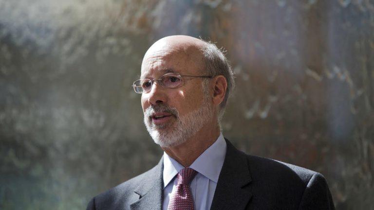 Pennsylvania Gov. Tom Wolf speaks during a news conference in Philadelphia on June 2