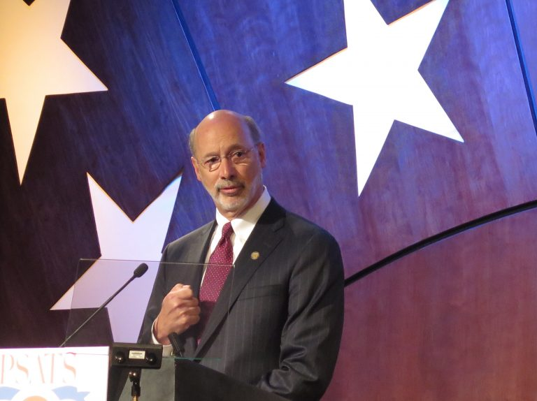 Gov. Tom Wolf speaks to the Pennsylvania State Association of Township Supervisors at their 2015 meeting in Hershey. (Emily Previti/WITF)