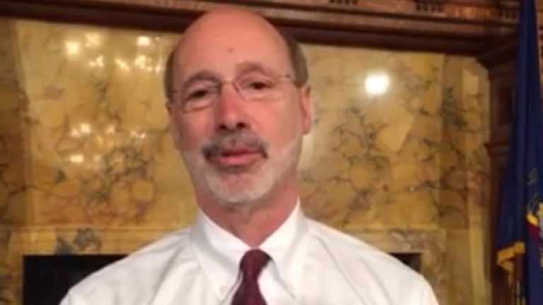 Screenshot of Pennsylvania Gov. Tom Wolf's post-town hall video.