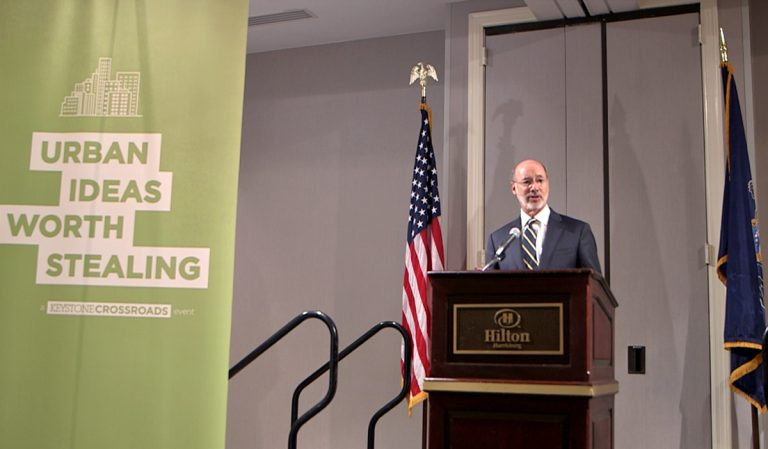 Governor Tom Wolf delivered the keynote address at the inaugural Keystone Crossroads' Urban Ideas Worth Stealing conference in Harrisburg