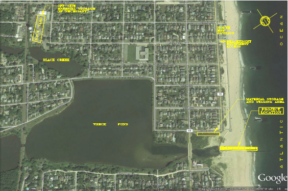 Wreck Pond and the surrounding area. (Image: American Littoral Society)