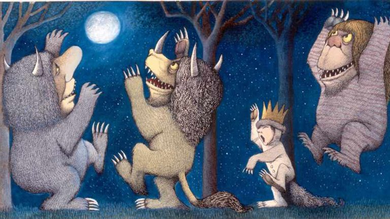 Final drawing for'Where the Wild Things Are.' Pen-and-ink and watercolor. ©The Estate of Maurice Sendak, 1963.