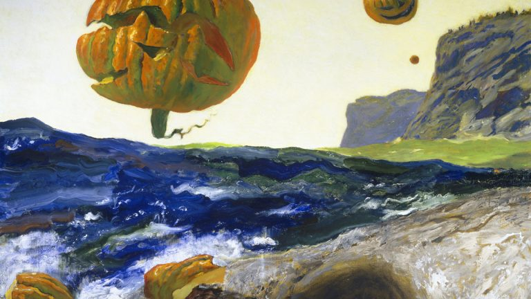 The largest and most comprehensive survey of Jamie Wyeth's work ever to be assembled is on display at the Brandywine River Museum of Art. Pictured: The Headlands of Monhegan Island, Maine, 2007 by Jamie Wyeth (photo courtesy of the Brandywine River Museum of Art).