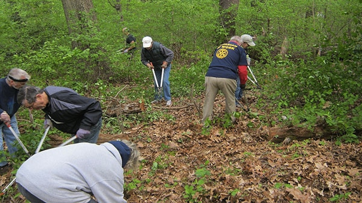 The Friends of Cresheim Trail working on an existing portion of the path. (Alaina Mabaso/NewsWorks Photo, file)