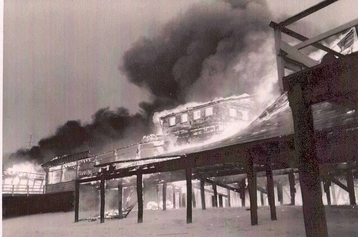 1955 Seaside Heights/Park fire (Photo courtesy of Emil R Salvini, Tales of the Jersey Shore)