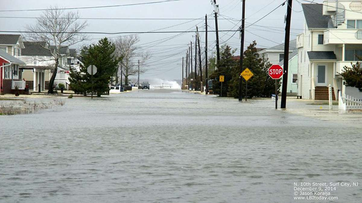 North 10 Street in Surf City, New Jersey during a Dec. 2014 nor'easter. (Photo courtesy of Jason Koralja)