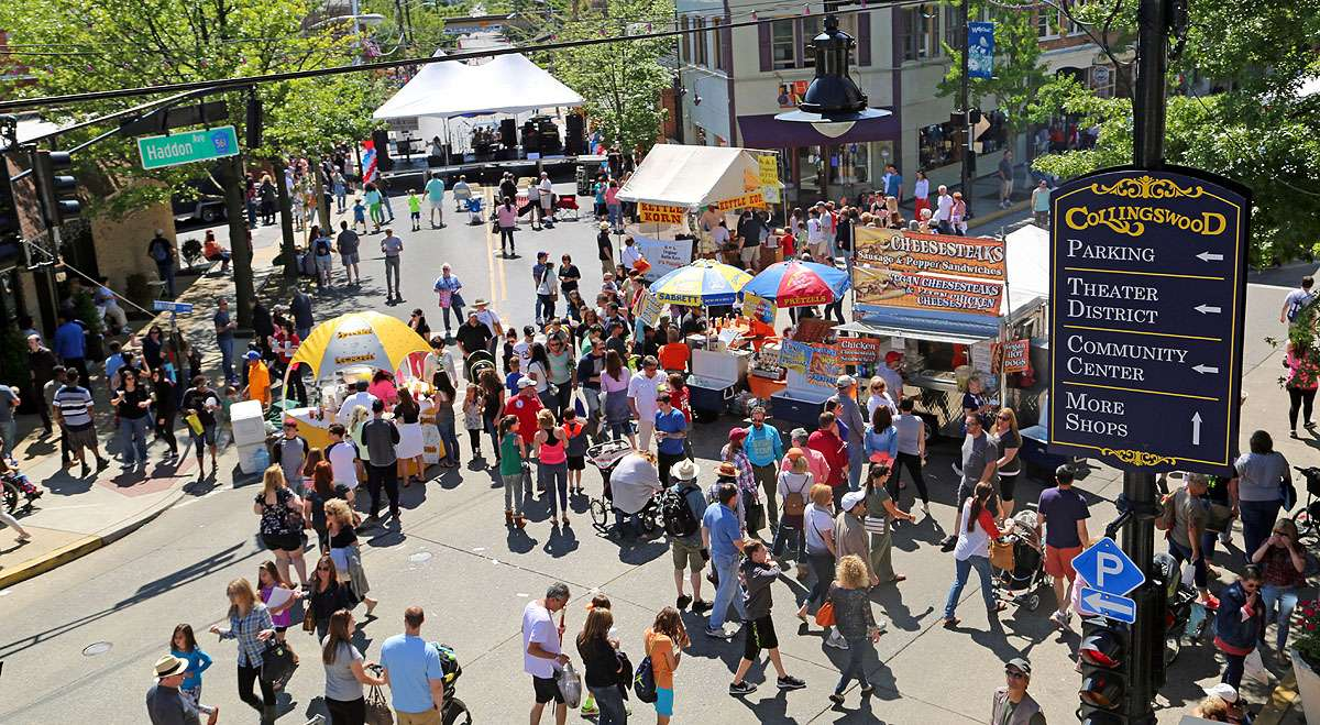 The Collingswood May Fair Day in 2015. (Natavan Werbock/for NewsWorks)