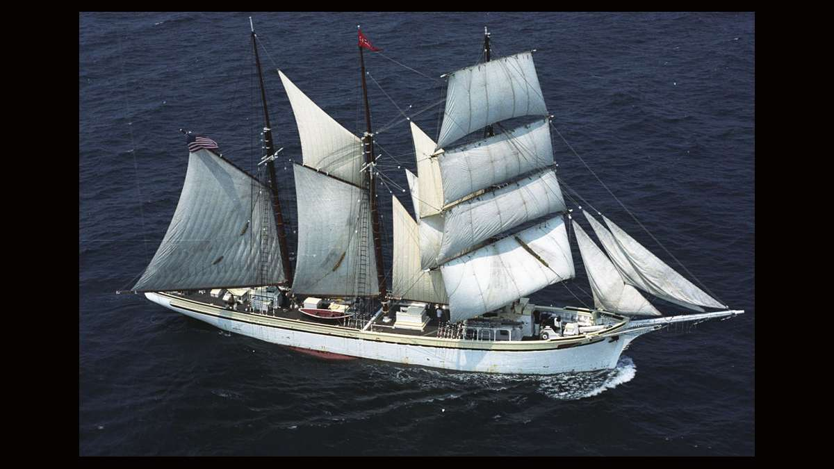 Gazela is Philadelphia's official Tall Ship. It was built in 1901 in Setubal, Portugal to fish the Grand Banks off Newfoundland. (Photo courtesy of Tall Ships)