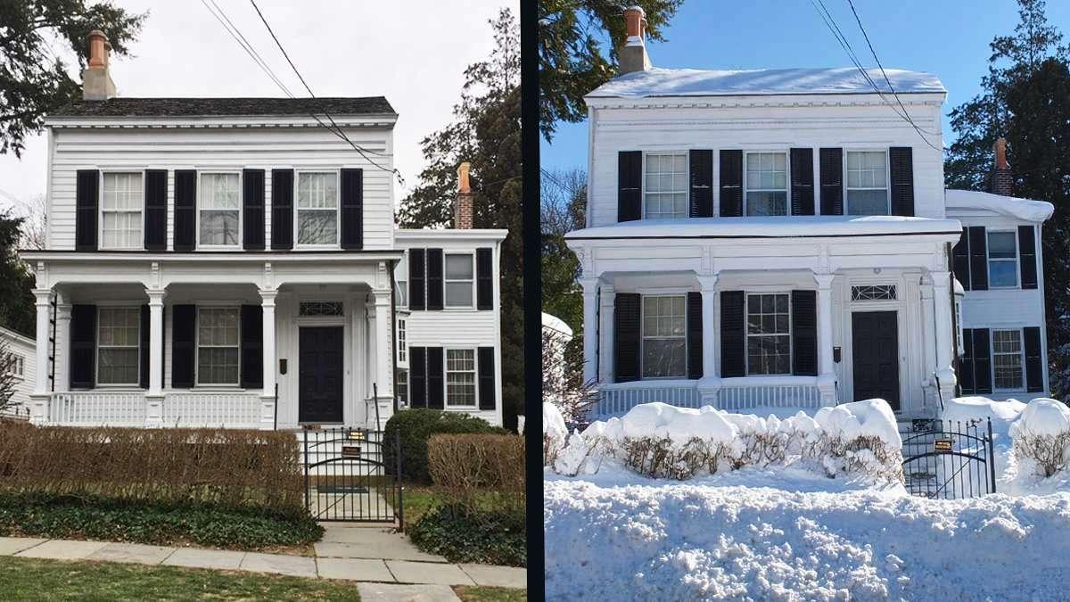 Albert Einstein's Princeton home  at 112 Mercer Street. (Alan Tu/WHYY)