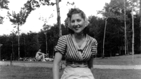 Sally is shown in her mid-twenties, probably around the time she became an American citizen. (Image courtesy of Lisa Meritz)