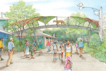 A $6 million grant will help fund a new overhead trail for the zoo's big cats. (Rendering courtesy of Philadelphia Zoo)