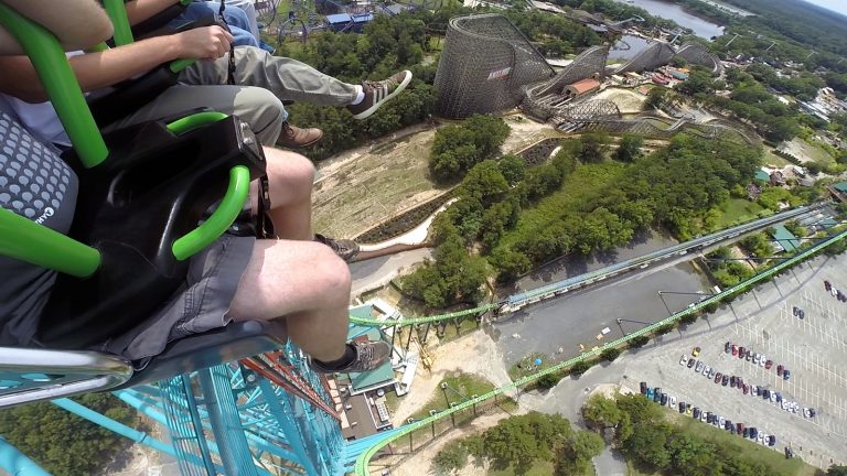 The view from the top of Six Flags Great Adventure's new drop tower