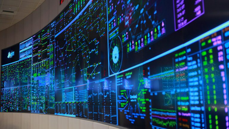 A display showing the state of the grid section operated by PJM. (Courtesy of PJM)
