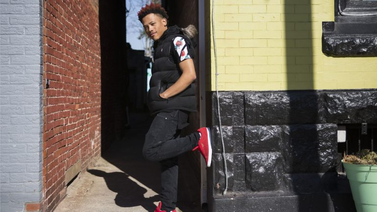 "Local hip-hop artist Nakuu produced a song called , ""Brothers;"" as a way to get people talking about racial tension. in York, Pennsylvania. (Jessica Kourkounis for Keystone Crossroads)"