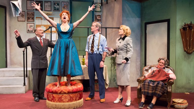 Everything that can go wrong does in Ken Ludwig's madcap farce,