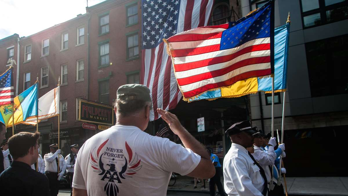 Philadelphia firefighters and police marched on Sunday September 11, 2016 to honor those who died responding to the terror attacks on the World Trade Center 15 years ago.