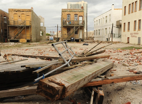 <p><p>A destroyed section of Boardwalk at Pacific and New Hampshire avenues. (Photography by Peter Tobia/Atlantic City Alliance)</p></p>