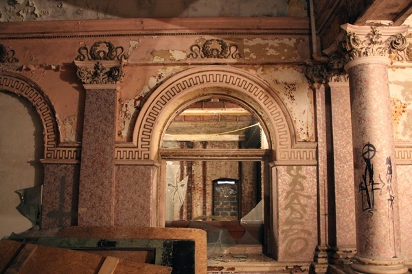 <p><p>Developer Eric Blumenfeld says he has plans to restore the original decorative details of the Divine Lorraine if he moves forward with his plans for North Broad Street. (Emma Lee/for NewsWorks)</p></p>