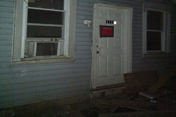 "<p><p>Essence's house was ""red tagged"" (Photo credit: Sam Gerlach)</p></p>"