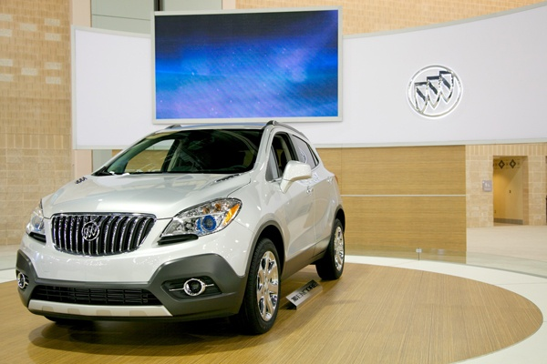 <p><p>Buick's AWD Encore uses a 1.4L Turbo WT engine to produce 138HP and 148Ib-ft, giving it 23MPG city and 30MPG highway. (Nathaniel Hamilton/for NewsWorks)</p></p>