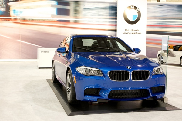 <p><p>The BMW M5 Sedan uses a 4.4L V8 TwinPower Turbo to get 560HP with a seven-speed transmission. (Nathaniel Hamilton/for NewsWorks)</p></p>