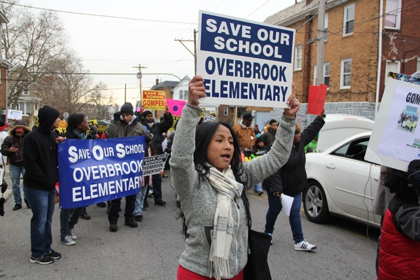 <p><p>Sodonay Williams, who has two children at Gompers, says closing the school doesn't make any sense. She joined protesters who object to the district's proposal to send Overbrook and Gompers students to Beeber Middle School. (Emma Lee/for NewsWorks)</p></p>