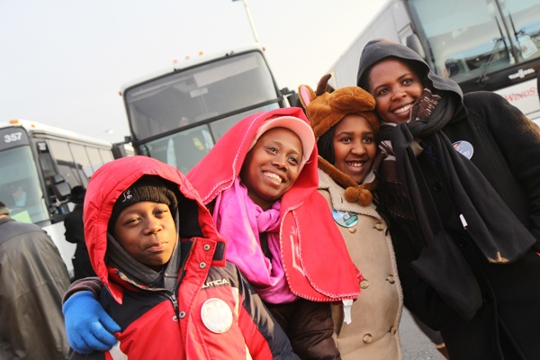 <p><p>Delawareans (from left) Baraka Osborne, Joyce Osborne, Chelsea Muuo-Wambua and Bessann Muuo-Wambua arrive at the inaugural festivities. (Kimberly Paynter/WHYY)</p></p>