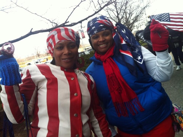 <p><p>Lasoka Mckeller and Yolonda Gray from Indiana want the president to decrease the deficit and create jobs in his second term. (Kimberly Paynter/WHYY)</p></p>