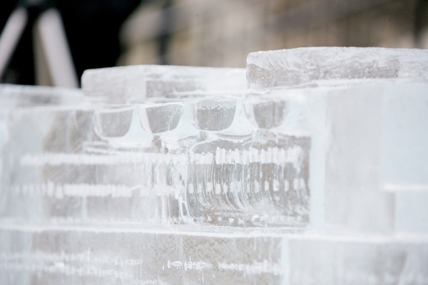 <p><p>Life boats along the ice sculpture of the Titanic. (Nathaniel Hamilton/for NewsWorks)</p></p>