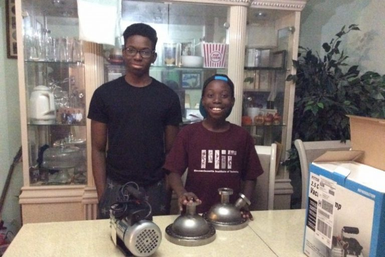 Steven Udotong (left), 16 of Cinnaminson, New Jersey, is building a nuclear fusor in his home. Steven, pictured with his 11-year-old brother, Tony, has raised nearly $3,000 to build the device. (Steven Udotong/GoFundMe)
