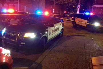 Wilmington Police investigate the shooting death of a 17-year-old girl Wednesday night in the 900 block of Kirkwood St. in the city's Eastside section. (John Jankowski/for NewsWorks)