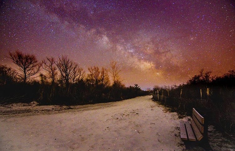The Milky Way rising over Barnegat Light early yesterday morning by @b_brophy as tagged #JSHN on Instagram.
