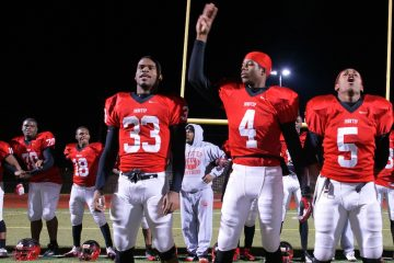 Deandre Scott (No. 5) and Aaron Ruff (No. 70) have been invited to play in the national Offense-Defense All-American Bowl in Florida on Jan. 3. (Bas Slabbers/for NewsWorks)
