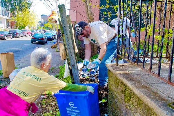 <p><p>37. Volunteers take care to separate recyclables from garbage as they clean up Duval Street in Mt. Airy. (Jana Shea/for NewsWorks)</p></p>