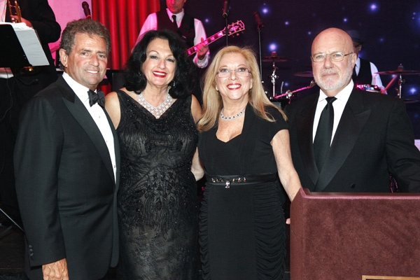 <p><p>Rainbow Ball cochairs Ronald Yellin (left) and his wife, Abramson Center trustee, Michelle Yellin, Sarita Gocial, Abramson Center Auxiliary member, and her husband Morris Gocial, treasurer of the Center's board of trustees (Photo courtesy of Scott Weiner)</p></p>