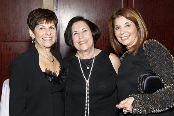 <p><p>Abramson Center Auxiliary President Nina Goldfarb (left), her sister and associate treasurer of the Center's board of trustees Barbara Lincow, and Sherrie Savett, president of the Jewish Federation of Greater Philadelphia (Photo courtesy of Scott Weiner)</p></p>