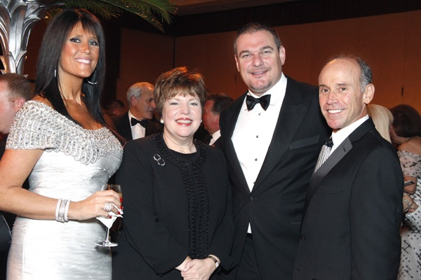 <p><p>Abramson Center trustee Fran Levin (left), Abramson Center President and CEO Carol Irvine, Alan Levin, and Michael B. Steinberg, Abramson Center board chairman (Photo courtesy of Scott Weiner)</p></p>