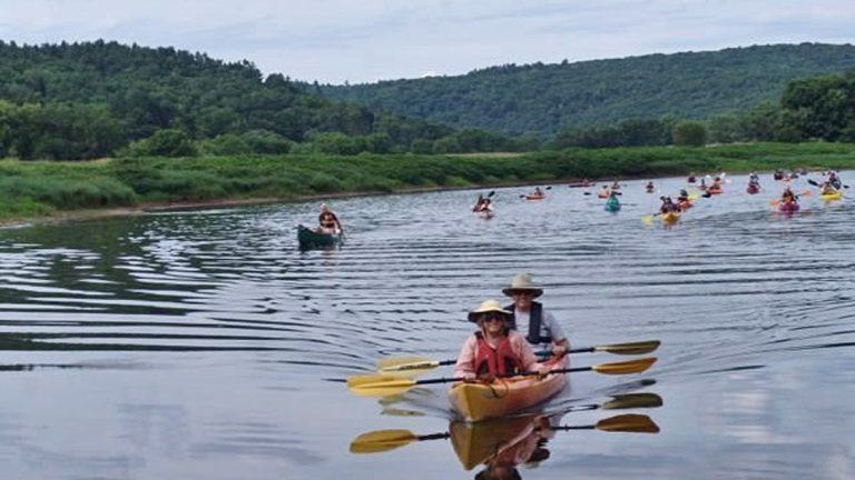 Through the Delaware River Sojourn, paddlers gain new appreciation for the river's ecology and history. (Photo courtesy of Delaware River Sojourn)