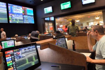 A sports betting room in Delaware. (Steve Ruark/AP, file)