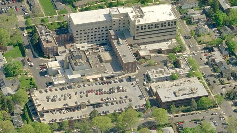 Avalon Bay plans to develop an apartment complex at the former site of Princeton's hospital. (Image from Bing Maps)
