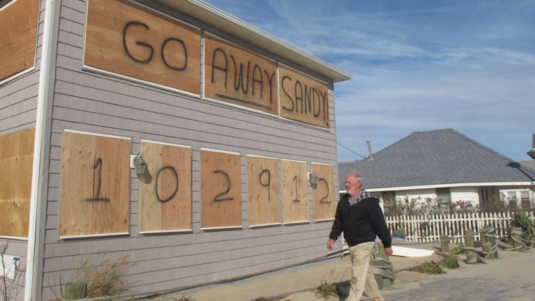 This building in Point Pleasant survived Superstorm Sandy in one piece. (AP Photo/Wayne Parry)