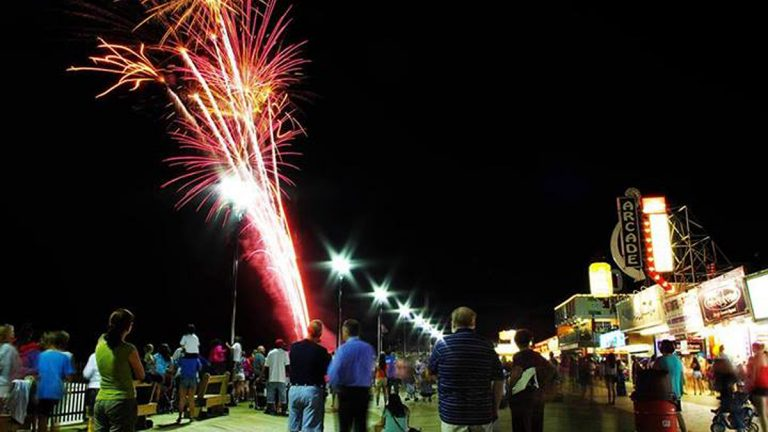 Fireworks last night over the boardwalk. (Photo courtesy of Gregory Hnath)
