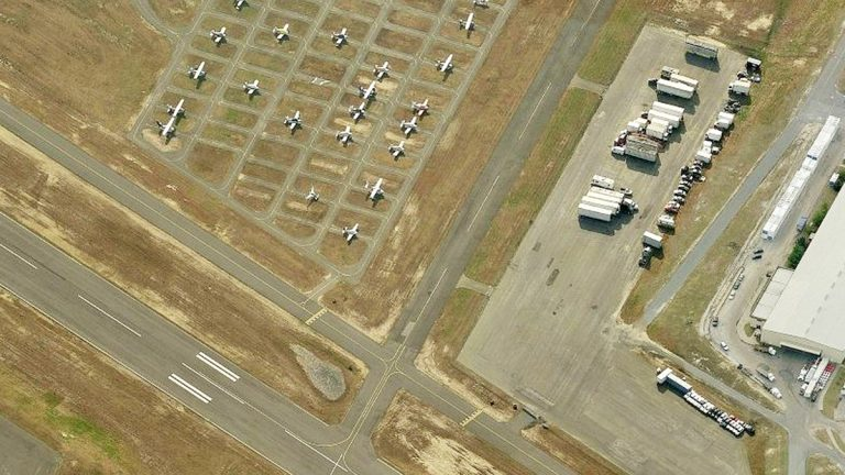 Aerial view of the Monmouth Executive Airport. (Photo from Bing Maps)