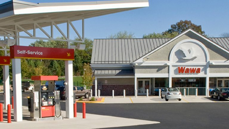 A super WaWa like this one will be built on Rt. 130 across from the post office. (Photo courtesy of WaWa)