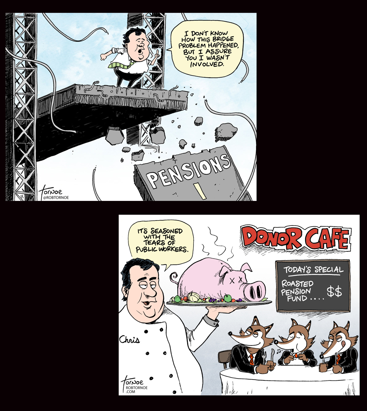 20150313 two cartoons on pensions 1200