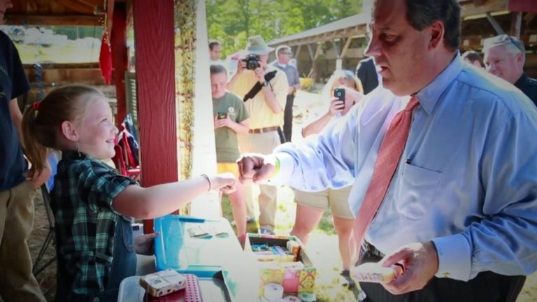Screen capture from 'It's About You' video on Governor Chris Christie's campaign website.