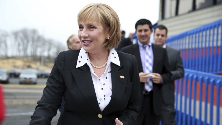 Republican New Jersey Lt. Gov. Kim Guadagno arrives to officially kick off her candidacy for governor
