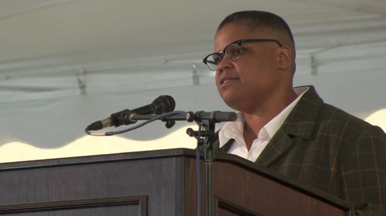 Keeanga-Yamahtta Taylor Delivers Keynote at Hampshire College's 2017 Commencement Ceremony (Screen capture from Hampshire College TV video)